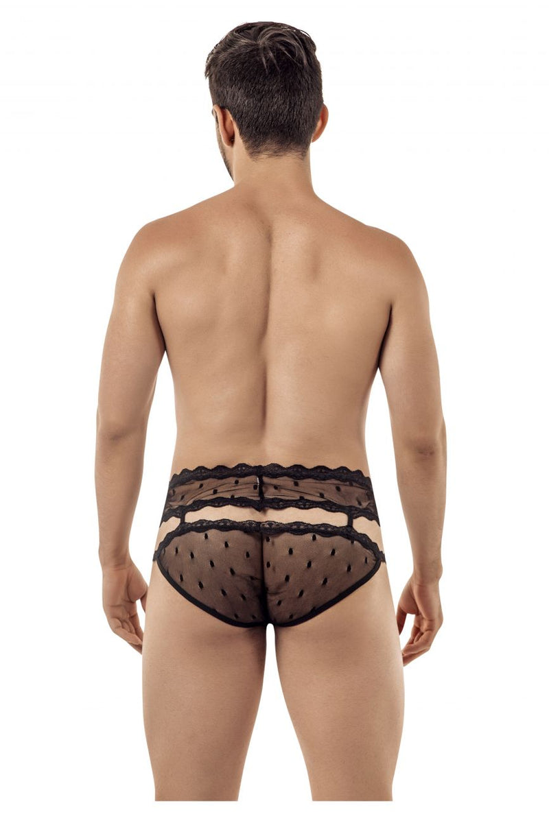 CandyMan 99416 Garter Belt Briefs Color Black