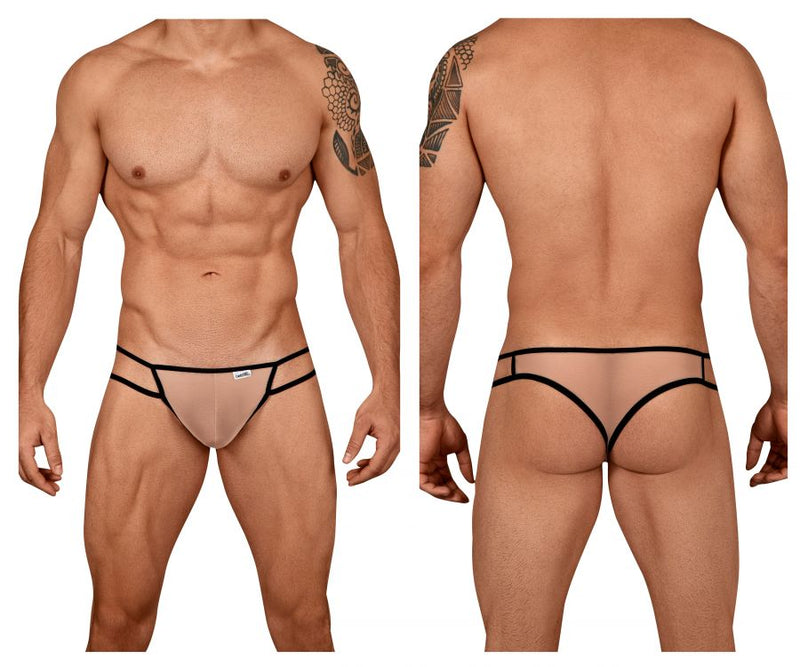 CandyMan 99435 Mesh Thongs Color Beige