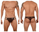 CandyMan 99435 Mesh Thongs Color Black
