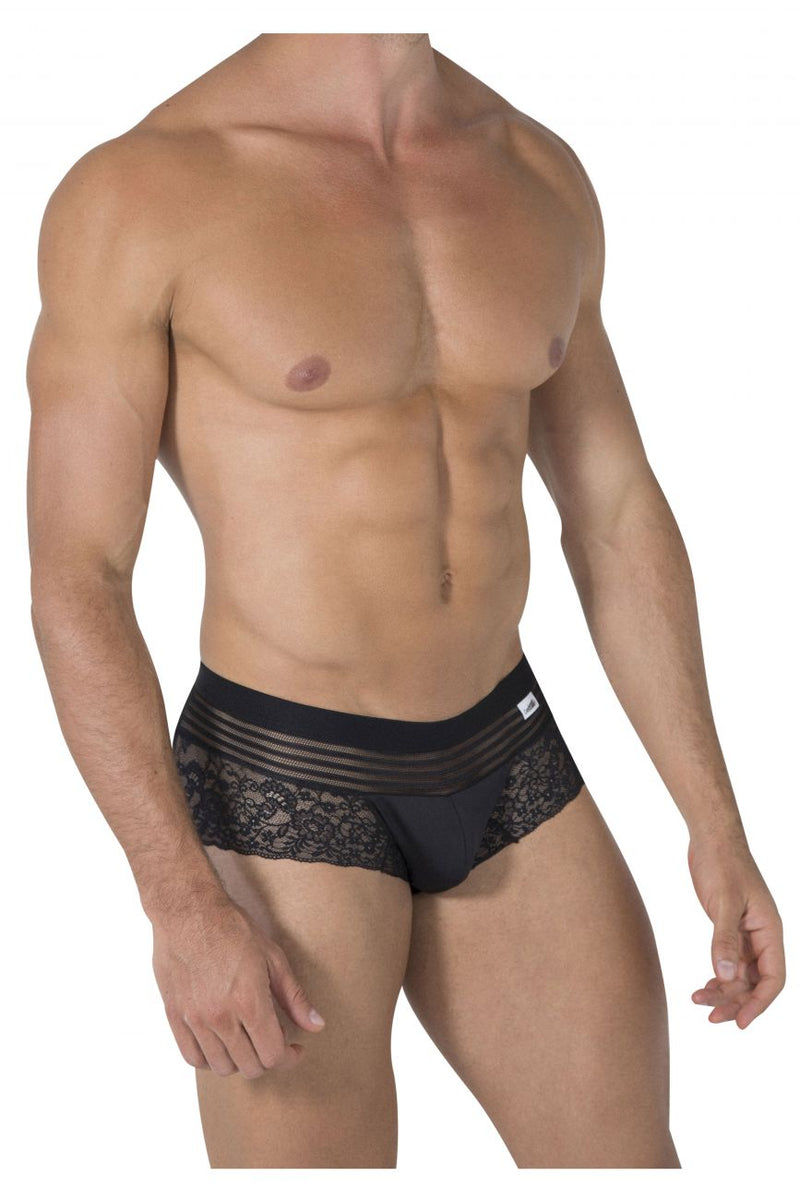 CandyMan 99466 Lace Briefs Color Black