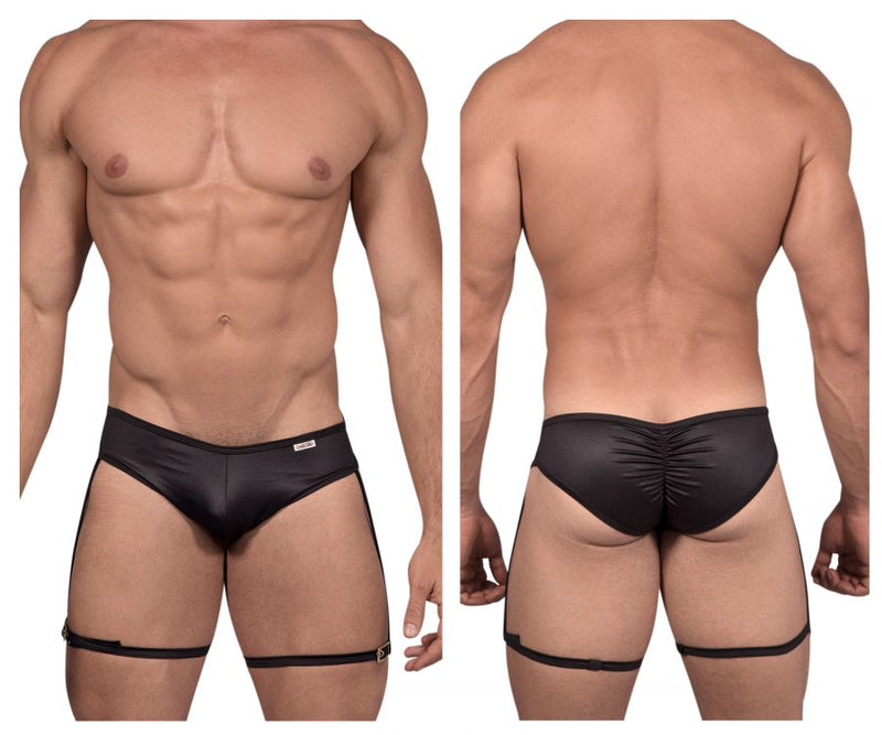 CandyMan 99468 Garter Briefs Color Black