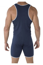 CandyMan 99475 Louge Bodysuit Color Navy