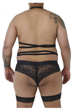 CandyMan 99483X Lace Garter Bodysuit Color Black