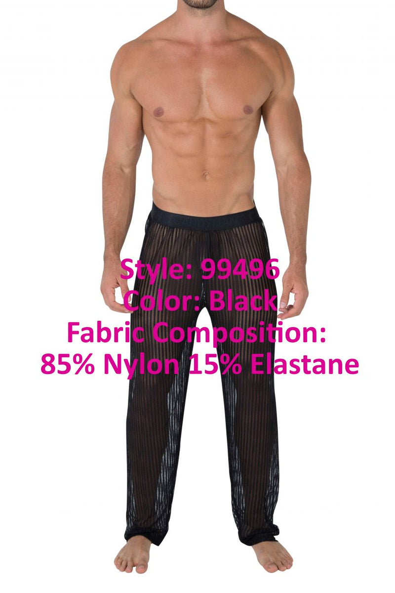 CandyMan 99496 Mesh Lounge Pants Color Black
