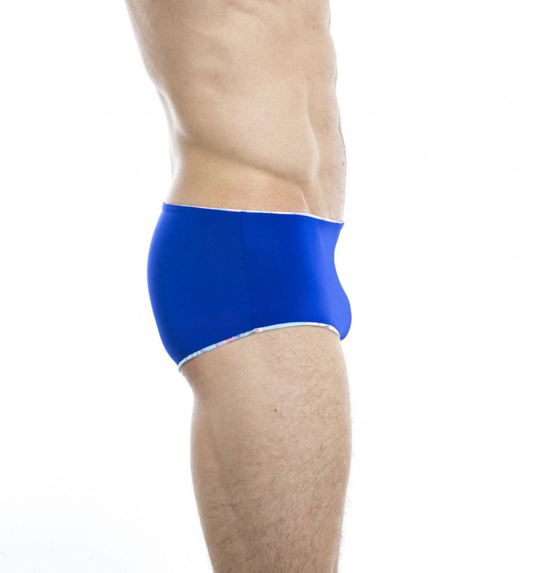HUNK2 ST20191A Lezard² Reversible Swim Trunks Color Blue