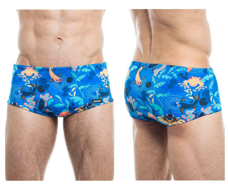 HUNK2 ST20201B Rampant² Reversible Swim Trunks Color Blue