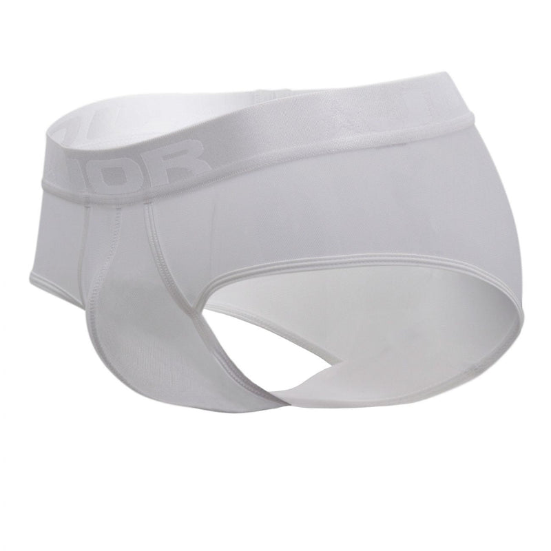 JOR 0883 Mesh Briefs Color White
