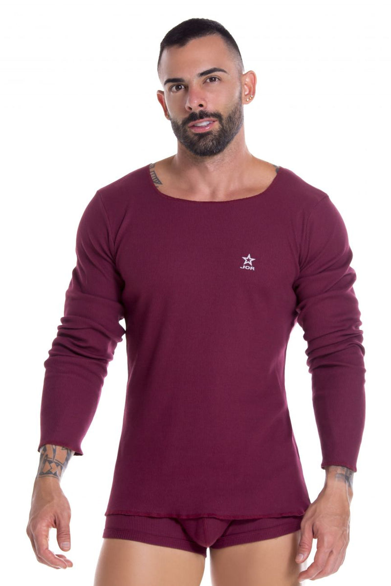 JOR 0921 Arizona Long SleeveT-Shirt Color Wine