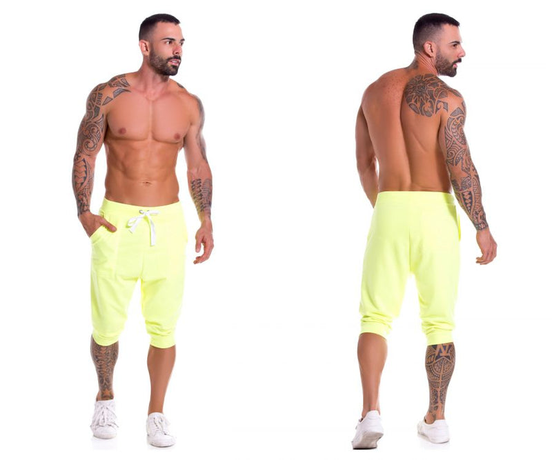 JOR 0931 Neon Athletic Pants Color Yellow