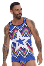 JOR 1002 Tribal Tank Top Color Printed
