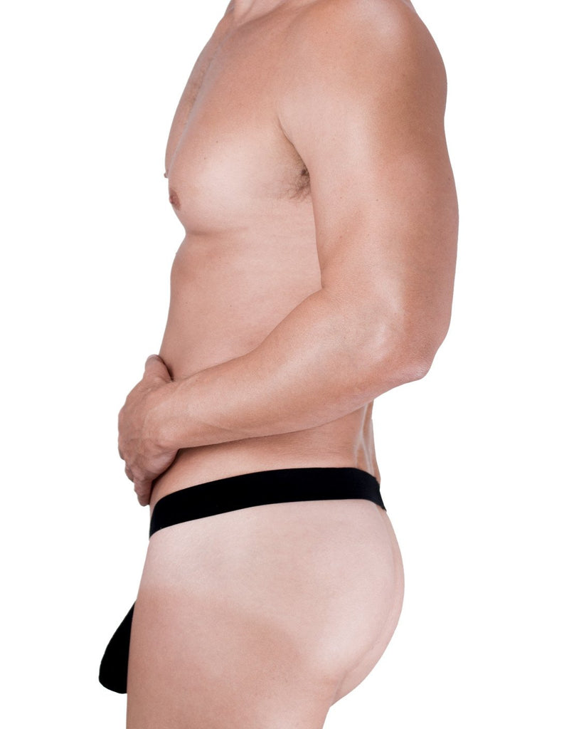 WildmanT Raw Strapless Mesh Jock with Blue Contrast Trim - Big Penis Underwear, WildmanT - WildmanT