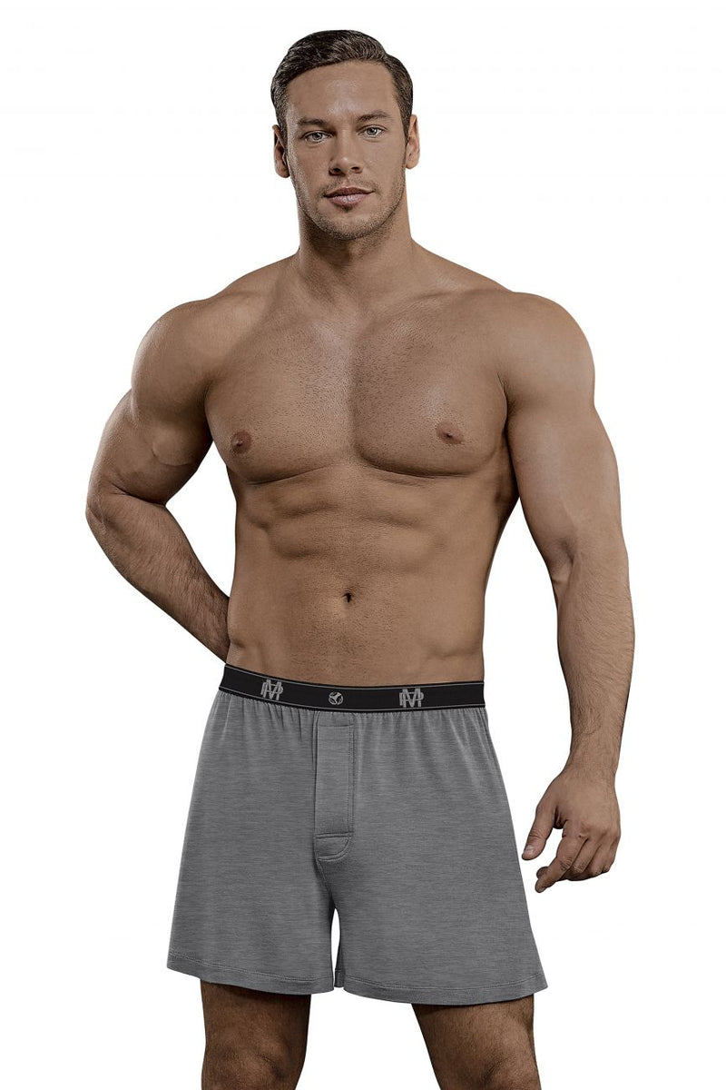 Male Power 160-253 Bamboo Boxer Short Color Gray