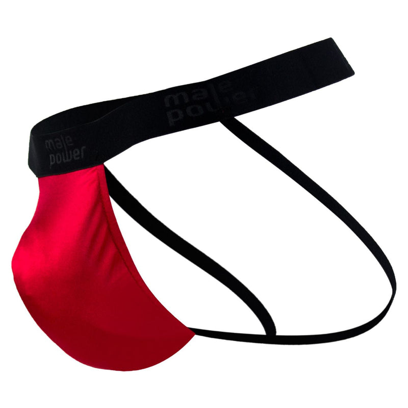 Male Power 390076 Satin Lycra Jockstrap Color Red