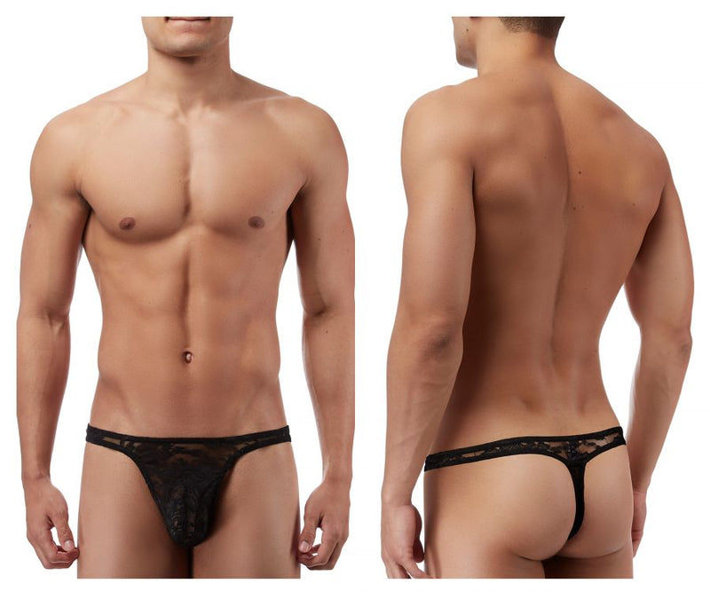 Male Power 442162 Stretch Lace Bong Thong Color Black