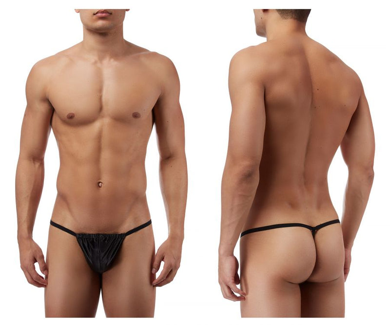 Male Power 450076 Satin Lycra Posing Strap Thong Color Black