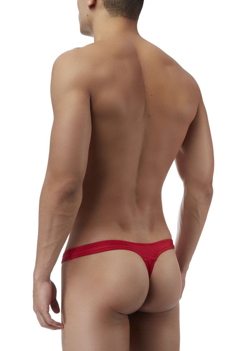 Male Power PAK834 Pull Tab Thong Color Red