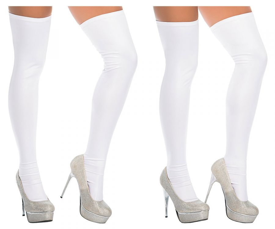 Mapale 1017 Thigh Highs Color White