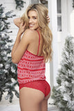 Mapale 7285 Sleep Romper Color Red