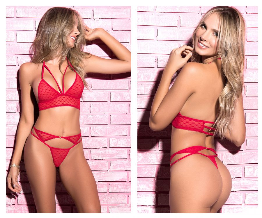 Mapale 8341 Two Piece Lingerie Set Color Red