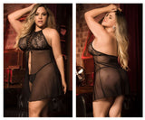 Mapale 8442X Babydoll with Matching G-String Color Black