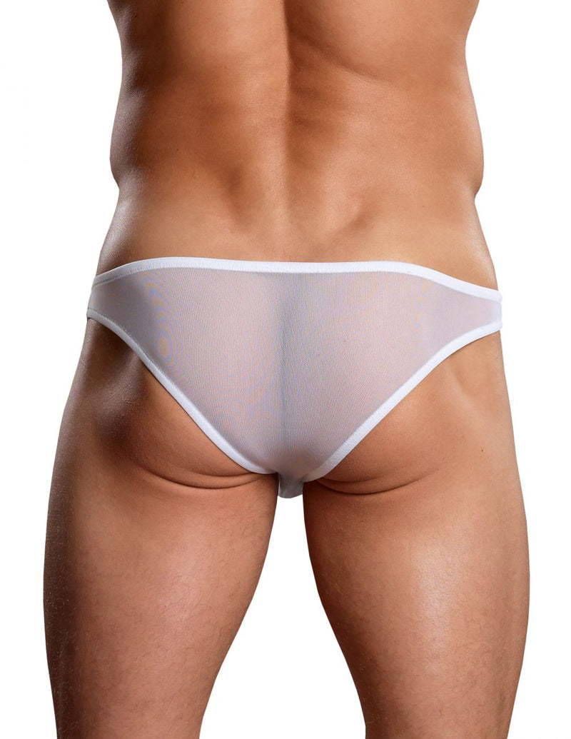 Male Power PAK881 Euro Male Mesh Brazilian Pouch Bikini Color White