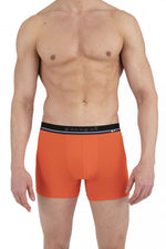 Papi 990002-906 4PK Boxer Briefs Color Gray-Orange-Black-Black
