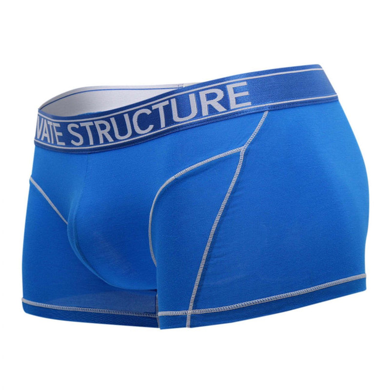 Private Structure PBUZ3749 Platinum Bamboo Trunks Color Solid Blue