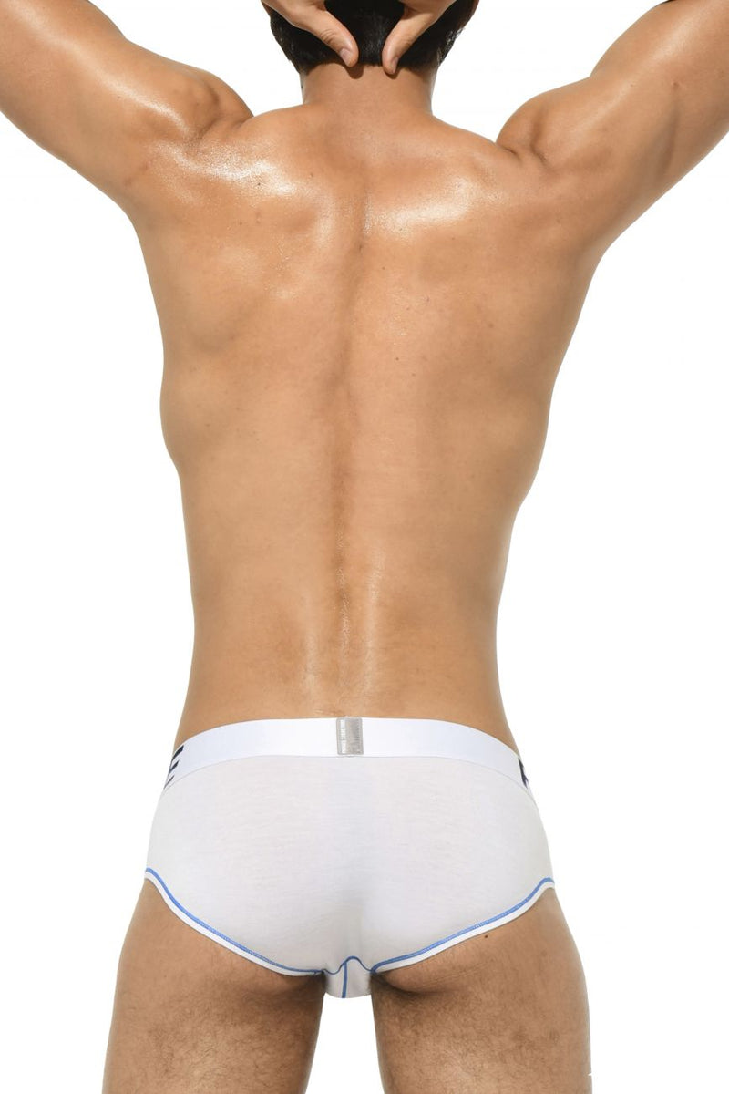 Private Structure PTUZ3791 Platinum Tencel Mini Brief Color White-Blue