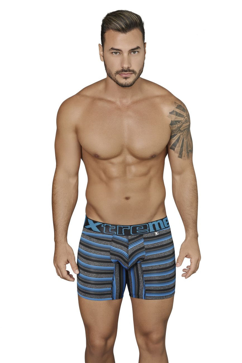 Xtremen 51415 Boxer Briefs Microfiber Stripes Color Black
