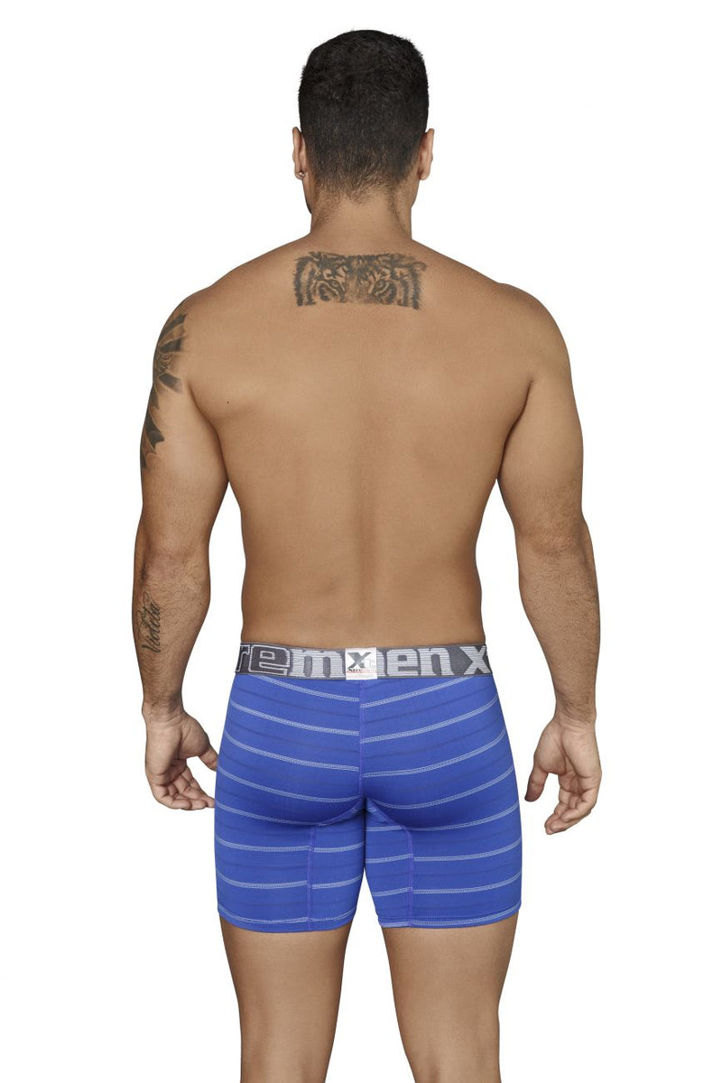 Xtremen 51417 Boxer Briefs Microfiber Stripes Color Blue