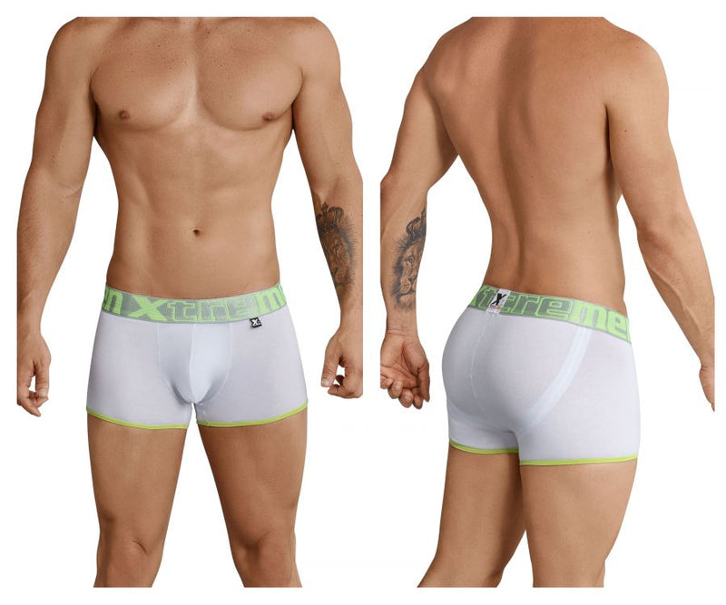 Xtremen 91027 Butt lifter Boxer Briefs Color White