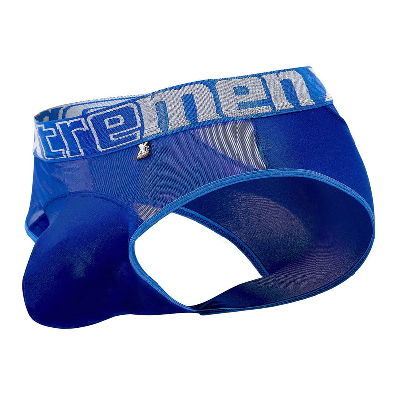 Xtremen 91059 Peekaboo Mesh Briefs Color Blue
