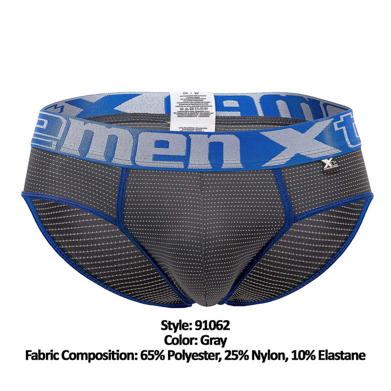 Xtremen 91062 Athletic Piping Briefs Color Gray