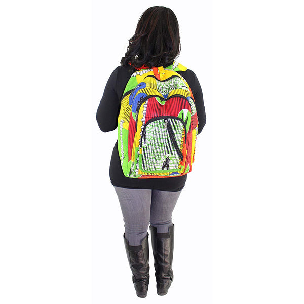 Multicolored Laptop Backpack 1895