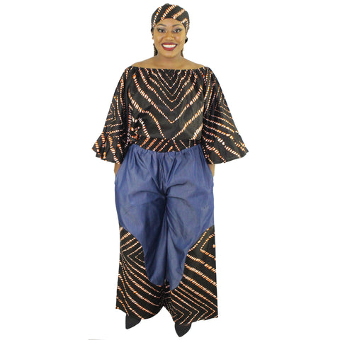 Women's 2 PC Long Pants Set - FI-4018