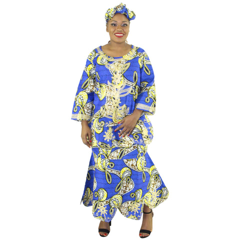 Women's Embroidered 3 Piece Set - FI-4003