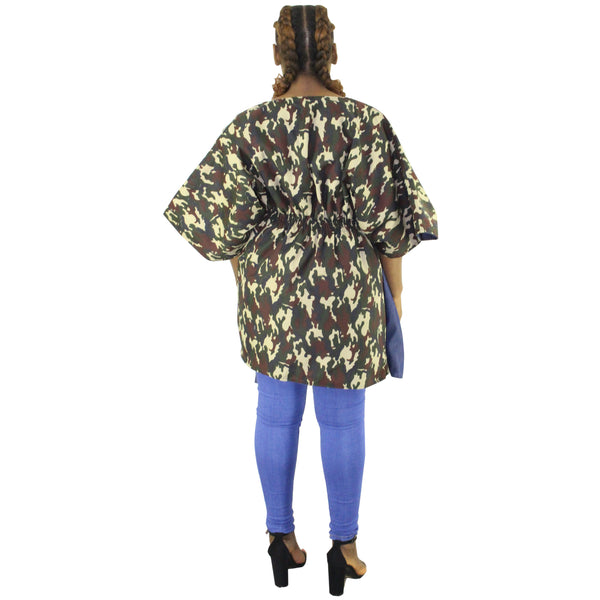 Women's Reversible camouflage Top - FI-4142