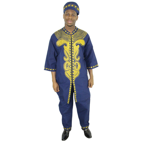 Men's 3 Piece King Outfit - FI-20062