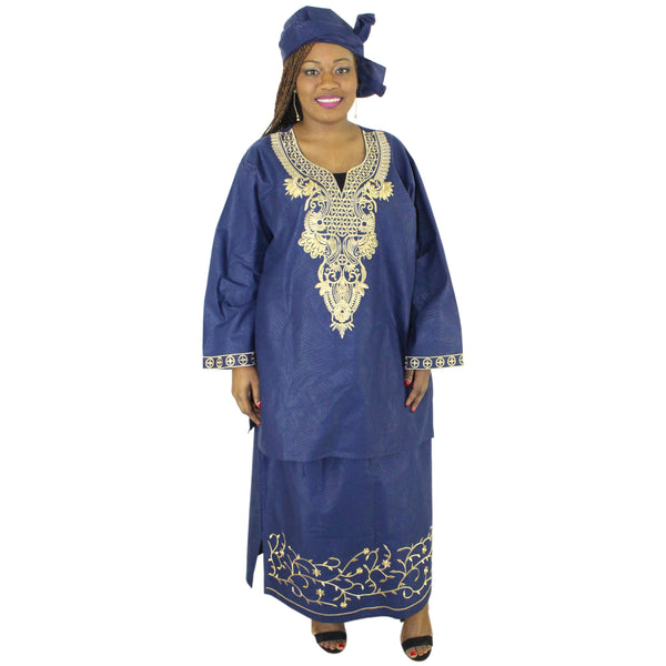 Women's 3 PC embroidered skirt set - FI-20066