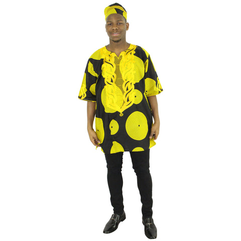 Men's African Embroidered Top - FI-2042