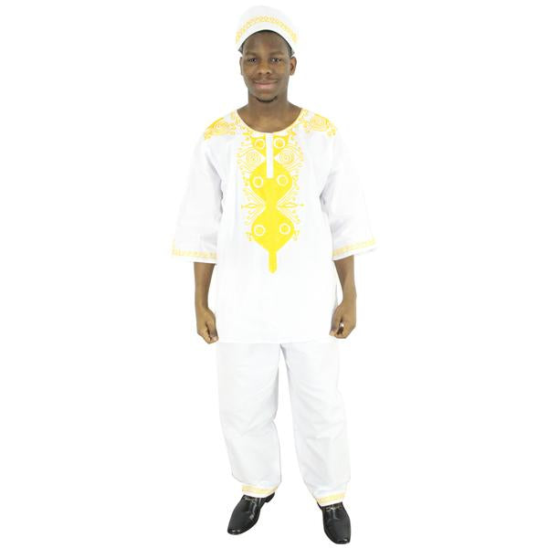 Men's Shoulder Embroidery Set - FI-20070