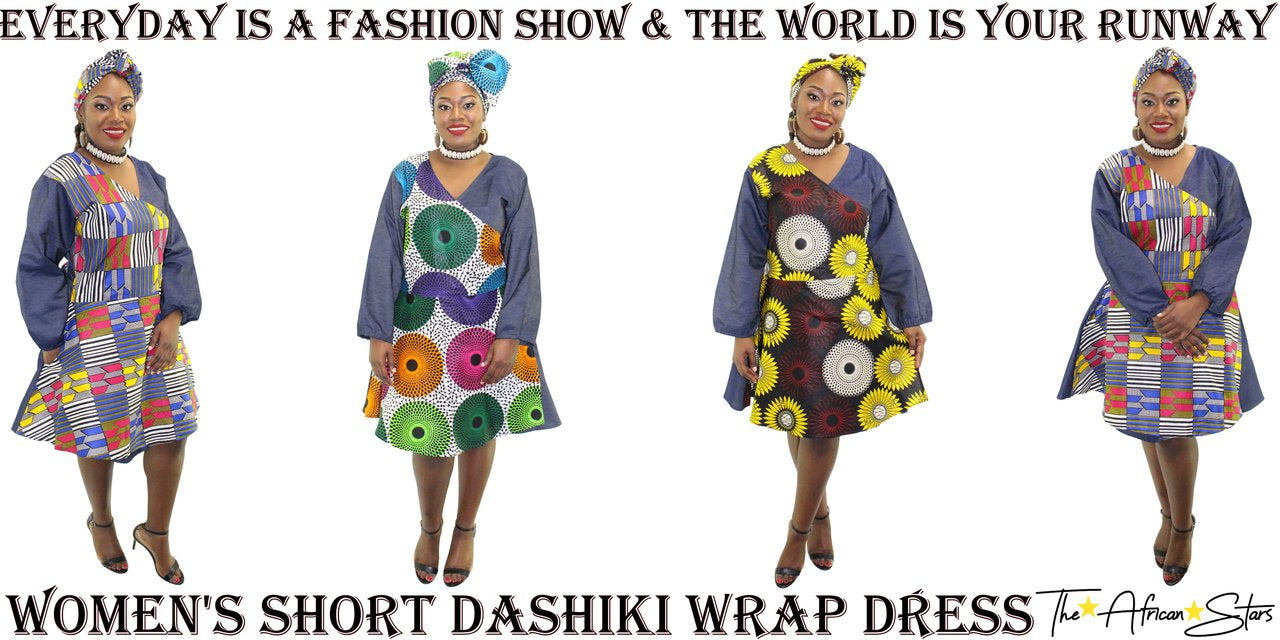 african dashiki wrap skirt
