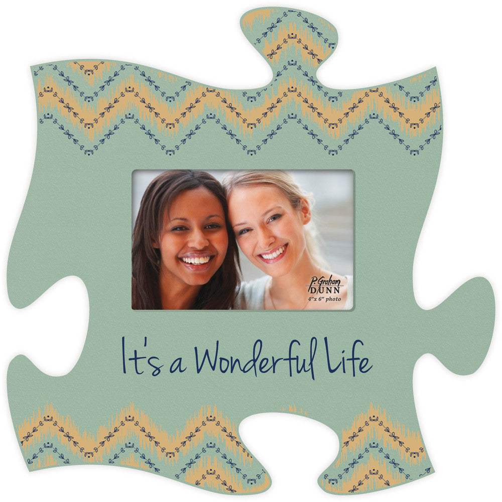 Puzzle Photo Frame Wonderful Life 12x12 Crossroads Estore