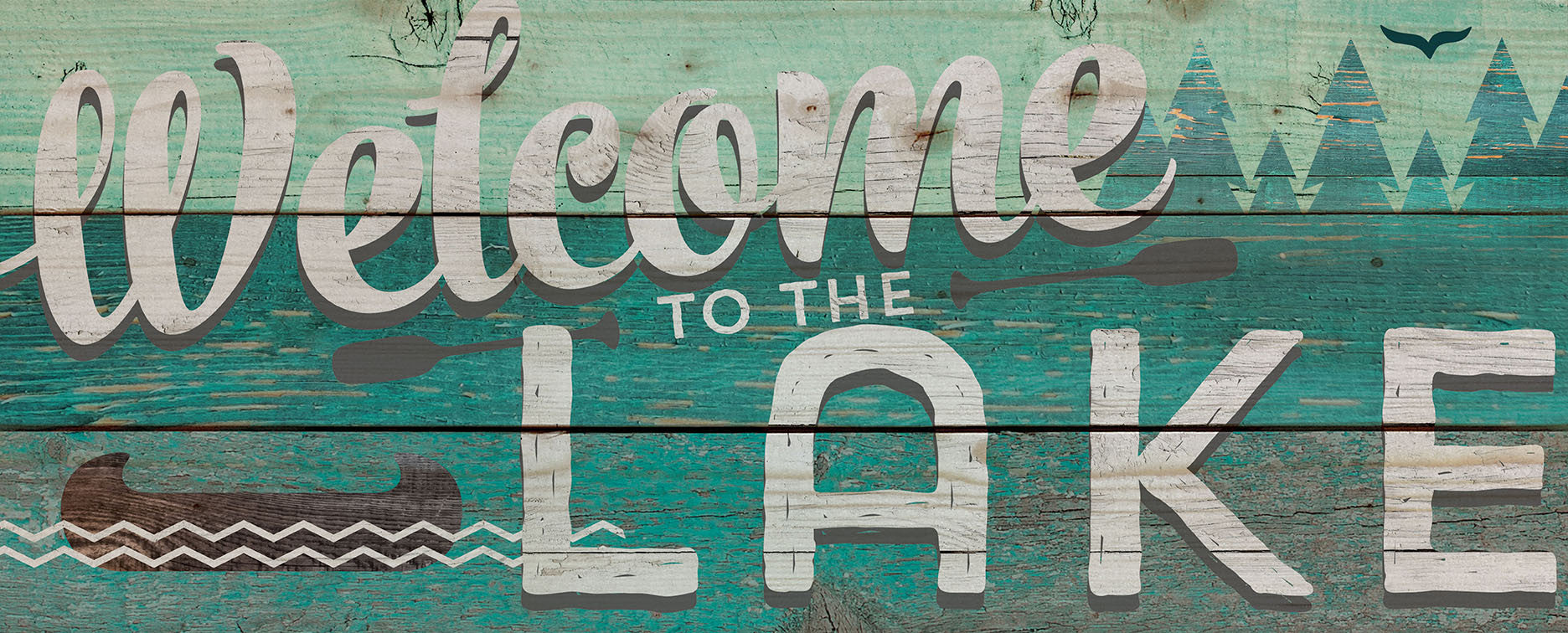 Pallet Art: Welcome To The Lake - 10 5x26