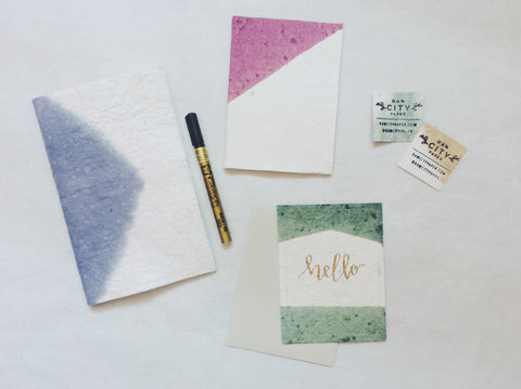 Raw City Paper Maker Break: Card and Journal Making