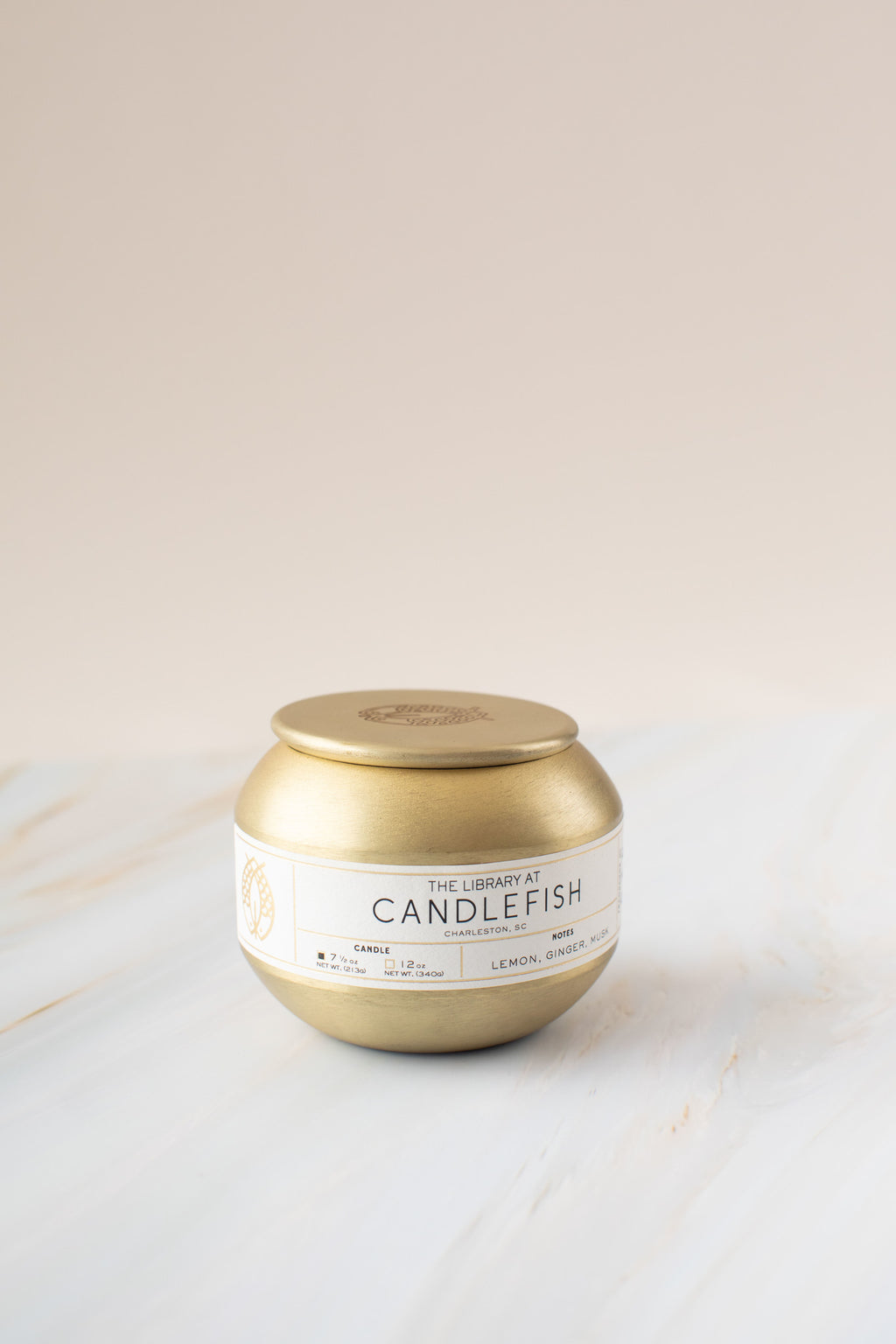 No. 52 Gold Tin Candle