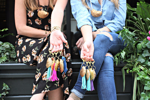 Oysters All Around Maker Break: Oyster Shell Tassel Keychain