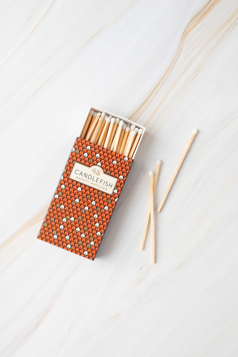 Orange Fish Scale Matchbox