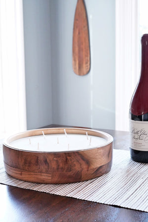 Spiked Cider Round Tray Barrel Aged Candle