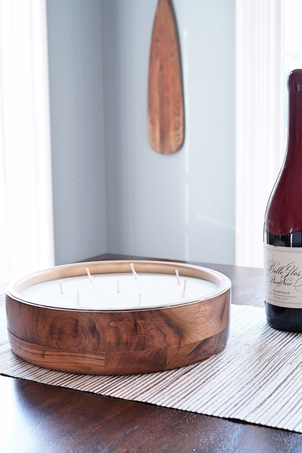 Wine Under The Tree Round Tray Barrel Aged Candle